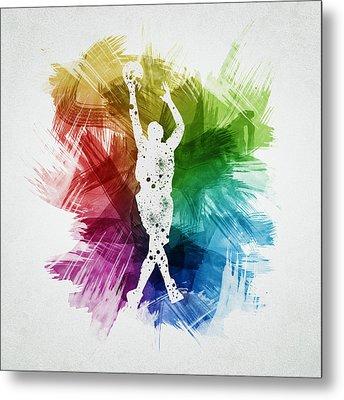 Basketball Player Art 22 Metal Print by Aged Pixel