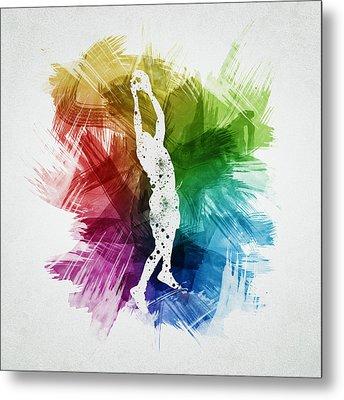 Basketball Player Art 25 Metal Print by Aged Pixel