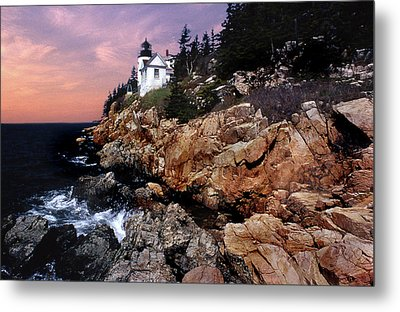 Bass Harbor Head Lighthouse In Maine Metal Print by Skip Willits
