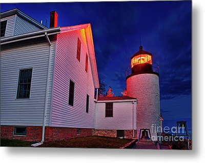 Bass Harbor Lighthouse Maine Metal Print by John Greim