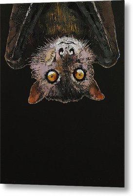 Bat Metal Print by Michael Creese