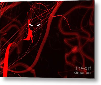 Bat Red - Beware The Batman Metal Print by Prar Kulasekara
