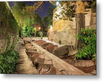Bathing Area In Santa Catalina Monastery Metal Print by Jess Kraft