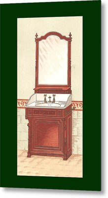 Bathroom Picture Wash Stand One Metal Print by Eric Kempson
