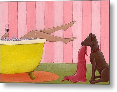 Bathtime Metal Print by Christy Beckwith
