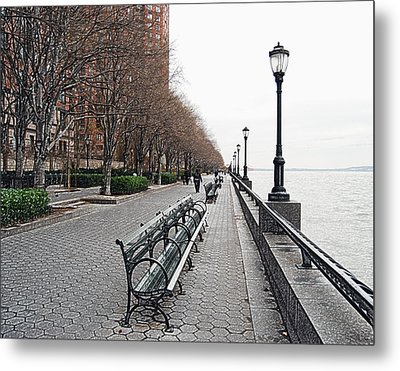 Battery Park Metal Print by Michael Peychich