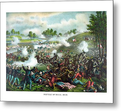 Battle Of Bull Run Metal Print by War Is Hell Store