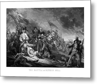 Battle Of Bunker Hill Metal Print by War Is Hell Store