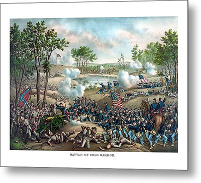 Battle Of Cold Harbor Metal Print by War Is Hell Store