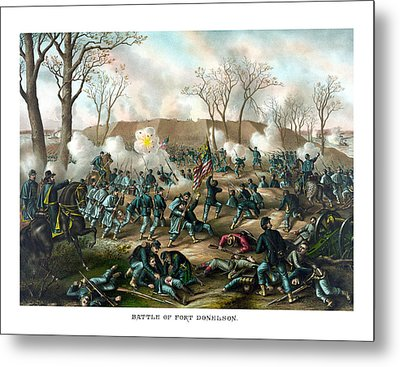 Battle Of Fort Donelson Metal Print by War Is Hell Store
