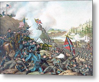 Battle Of Franklin Metal Print by American School