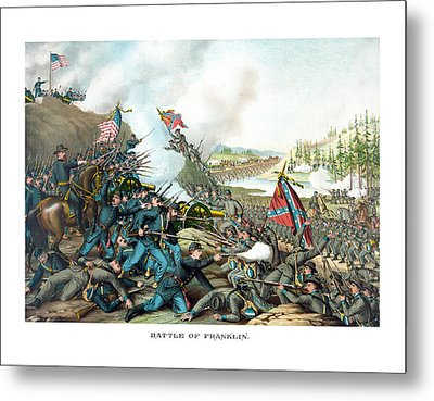 Battle Of Franklin - Civil War Metal Print by War Is Hell Store