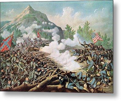 Battle Of Kenesaw Mountain Georgia 27th June 1864 Metal Print by American School