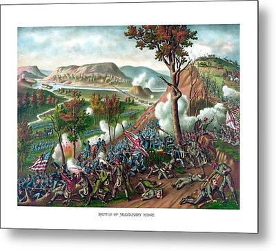 Battle Of Missionary Ridge Metal Print by War Is Hell Store