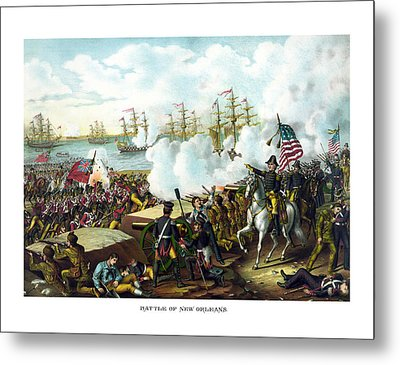 Battle Of New Orleans Metal Print by War Is Hell Store
