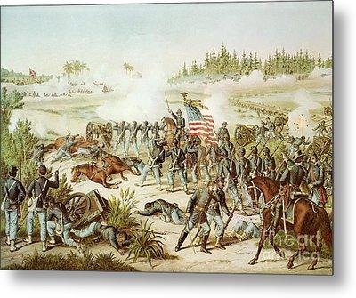Battle Of Olustee Metal Print by American School