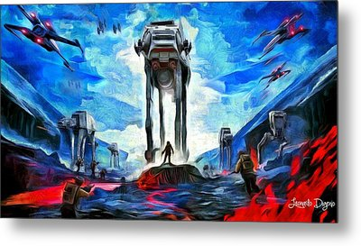 Battlefield Metal Print by Leonardo Digenio