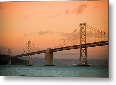 Bay Bridge Metal Print by Mandy Wiltse
