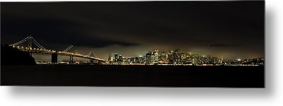 Bay Bridge San Francisco Metal Print by C.s.tjandra