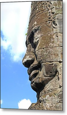 Bayon Face Metal Print by Marion Galt
