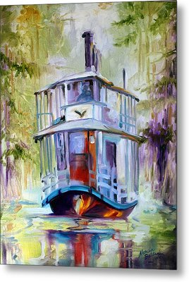 Bayou Taxi Waterscape Metal Print by Marcia Baldwin