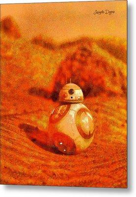Bb-8 In The Desert - Pa Metal Print by Leonardo Digenio