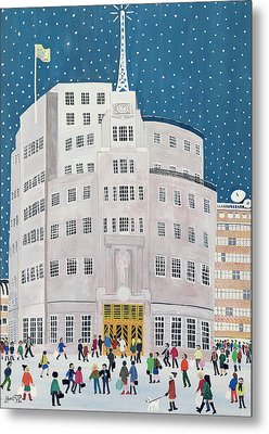 Bbc's Broadcasting House  Metal Print by Judy Joel