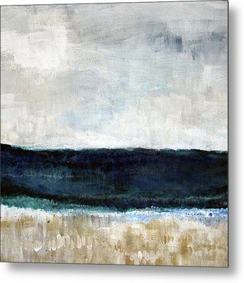 Beach- Abstract Painting Metal Print by Linda Woods