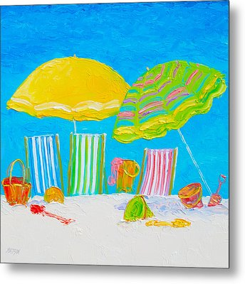 Beach Art - Beach Color Metal Print by Jan Matson