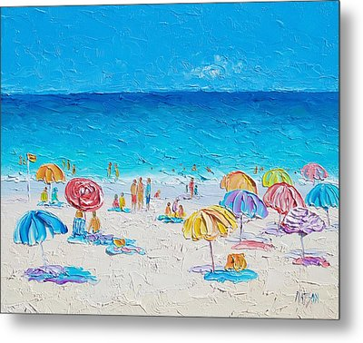 Beach Art - First Day Of Summer Metal Print by Jan Matson