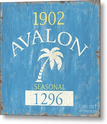 Beach Badge Avalon Metal Print by Debbie DeWitt