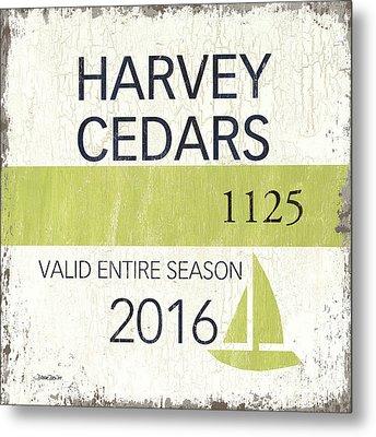 Beach Badge Harvey Cedars Metal Print by Debbie DeWitt