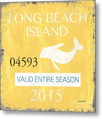 Beach Badge Long Beach Island Metal Print by Debbie DeWitt