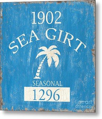Beach Badge Sea Girt Metal Print by Debbie DeWitt