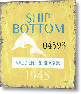 Beach Badge Ship Bottom Metal Print by Debbie DeWitt