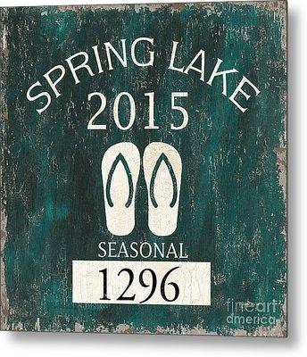 Beach Badge Spring Lake Metal Print by Debbie DeWitt