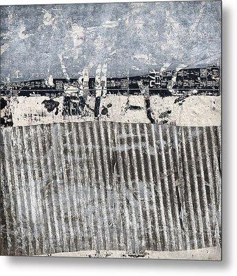 Beach Barrier Abstract Metal Print by Carol Leigh