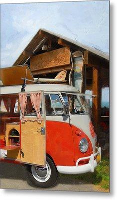 Beach Bus Metal Print by Ron Regalado