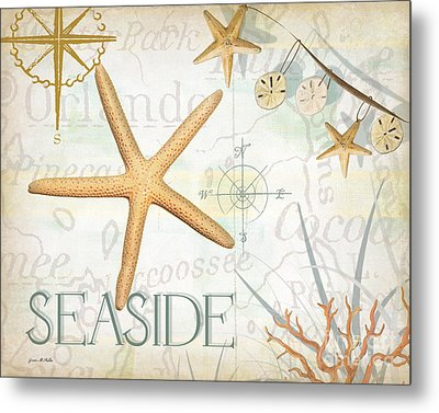 Beach Collage C Metal Print by Grace Pullen