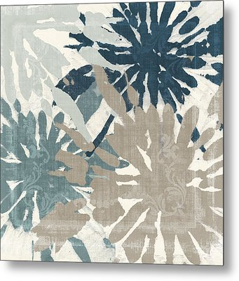 Beach Curry Iv Ikat Metal Print by Mindy Sommers