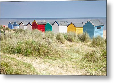 Beach Huts Metal Print by Ian Merton