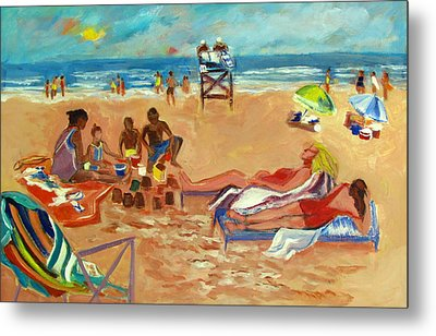 Beach In August Metal Print by Betty Pieper