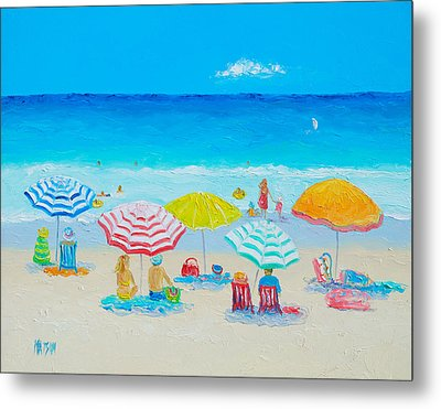 Beach Painting - Catching The Breeze Metal Print by Jan Matson