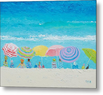 Beach Painting - Color Of Summer Metal Print by Jan Matson