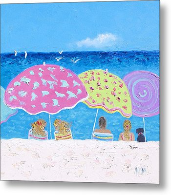 Beach Painting - Lazy Summer Days Metal Print by Jan Matson