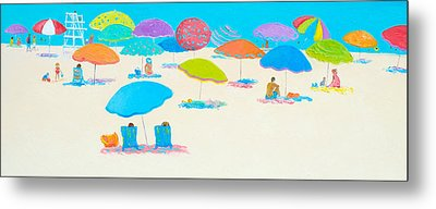 Beach Scene - Happy Times And Sunshine Metal Print by Jan Matson