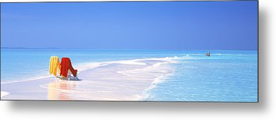Beach Scenic The Maldives Metal Print by Panoramic Images