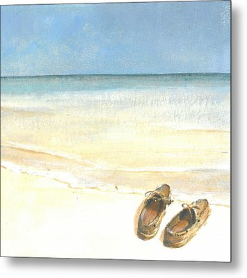 Beach Shoes Metal Print by Lincoln Seligman