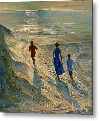 Beach Walk Metal Print by Timothy Easton