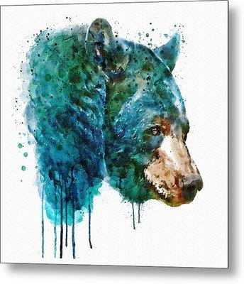Bear Head Metal Print by Marian Voicu